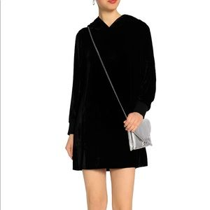 Alice + Olivia velvet hooded mini dress